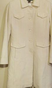 Via Spiga Cream Wool Trench Coat Size 8